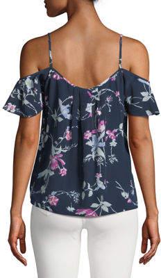 Joie Adorlee Floral Cold-Shoulder Blouse
