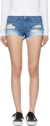 Rag & Bone Blue Denim Cut-Off Shorts