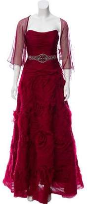 Teri Jon Ricki Freeman x Embellished Silk Gown