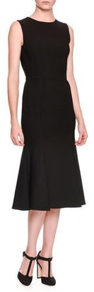 Dolce & Gabbana Sleeveless Open-Back Dress, Black $2,695 thestylecure.com