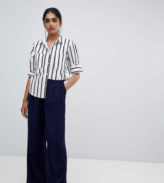 Y.A.S Tall Textured Wide Leg PANTS