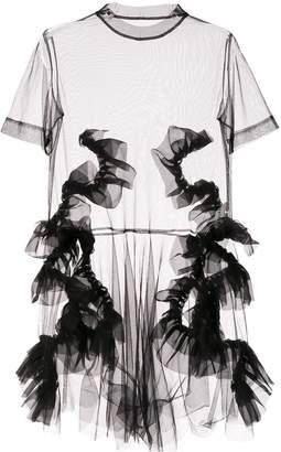 Roberts Wood sheer tulle dress