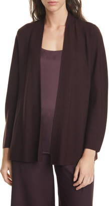 Eileen Fisher Shaped Merino Wool Cardigan