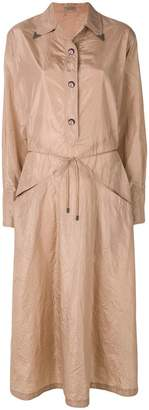 Bottega Veneta peach rose silk dress