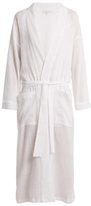 Pour Les Femmes - Patch Pocket Cotton Gauze Robe - Womens - White