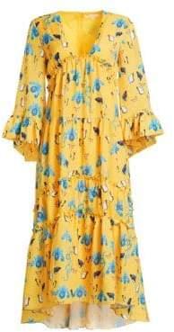 Borgo de Nor Iris Printed High-Low Dress