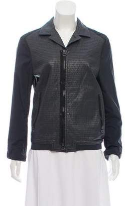 Lanvin Leather Zip-Up Jacket