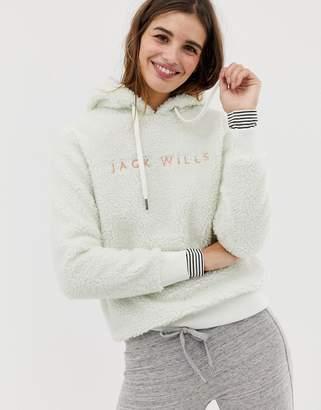 Jack Wills fleece hoodie with embroidered logo