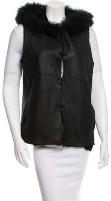Oscar de la Renta Fur Hooded Vest