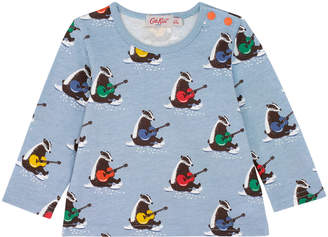 Cath Kidston Musical Badgers Baby Long Sleeved T Shirt
