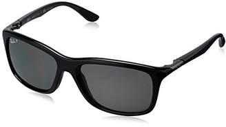 Ray-Ban Injected Man Sunglasses - Frame Dark Green Polar Lenses 57mm Polarized