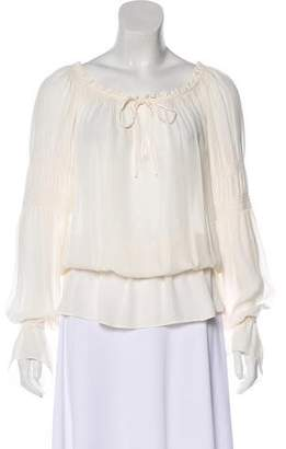 Haute Hippie Silk Long Sleeve Tunic