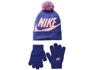 Nike Swoosh Pom Beanie Gloves Set (Little Kids Big Kids) e9722a34ee20