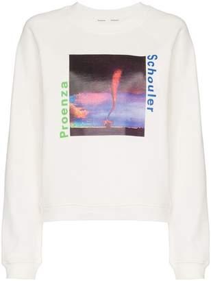 Proenza Schouler graphic logo cotton sweatshirt