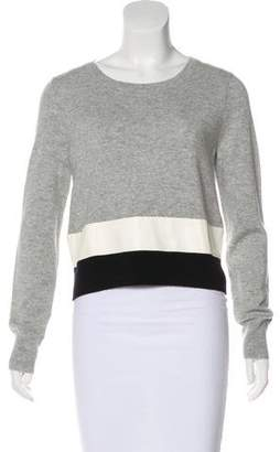 Veda Cashmere Leather-Trimmed Sweater