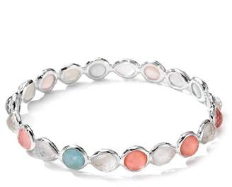 Ippolita Sterling Silver Wonderland Bezel Set Semi-Precious Stone Bangle