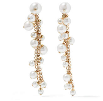 Lanvin - Gold-plated Faux Pearl Earrings - one size $450 thestylecure.com