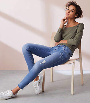 Lou & Grey Fresh Cut Skinny Jeans