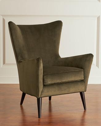 SAM. Moore Bryce Velvet Wing Chair