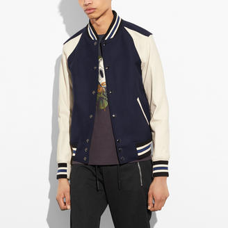 COACH Coach Wool Leather Varsity Jacket $795 thestylecure.com