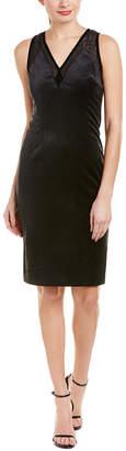Elie Tahari Mikaya Silk-Trim Shift Dress