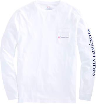 Vineyard Vines Mens Long-Sleeve Breast Cancer Awareness Logo T-Shirt