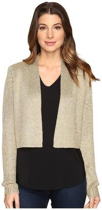 Calvin Klein Lurex Shrug Long Sleeve Sweater $69.50 thestylecure.com