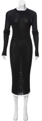 Ellery Long Sleeve Midi Dress