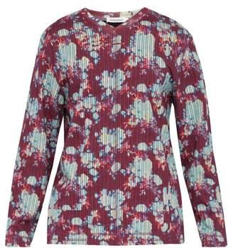 Craig Green Vibrating Floral Print Cotton T Shirt - Mens - Purple