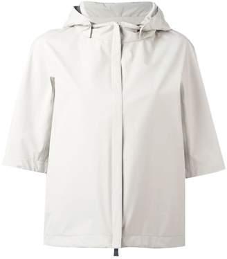 Herno shortsleeved hooded jacket