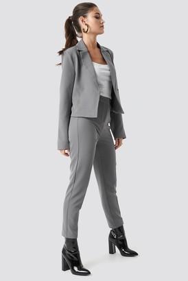 Julia Wieniawa X Na Kd Tailored Slim Suit Pants Brown