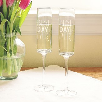 """Cathy's Concepts Cathys Concepts 2-pc. """"Best Day Ever"""" Champagne Flute Set"""