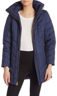 Anne Klein Missy Faux Fur Trim Jacket