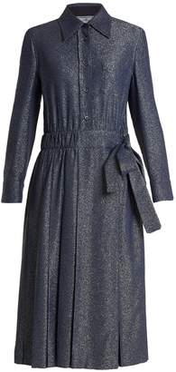 Prada Sable tie-waist Lurex dress