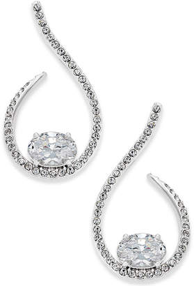 Danori Silver-Tone Pavé Crystal Loop Earrings $55 thestylecure.com