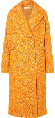 Ulla Johnson Frances Double-breasted Bouclé-tweed Coat - Yellow