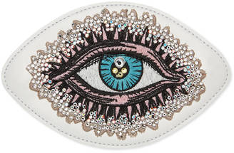 Embroidered eye leather appliqué $220 thestylecure.com
