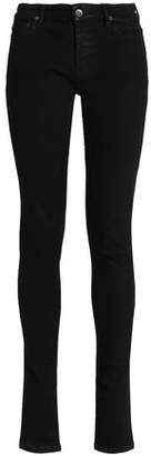 Rick Owens Mid-Rise Stretch-Denim Skinny Jeans