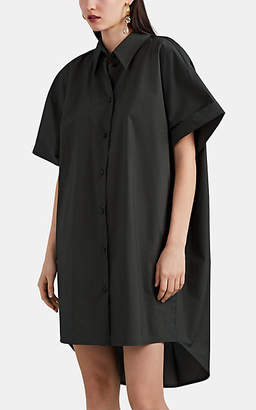 MM6 MAISON MARGIELA Women's Cotton Poplin Oversized Shirtdress - Dk. Green
