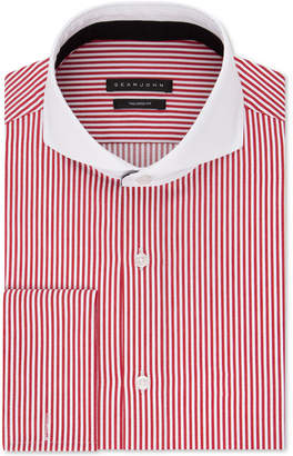 Sean John Men Big & Tall Classic/Regular Fit Stretch Stripe French Cuff Dress Shirt