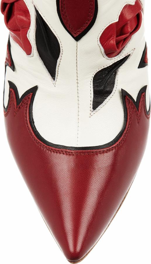 Miu Miu Western leather mules