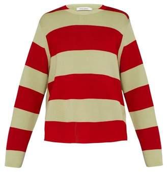Craig Green Striped Merino Wool Sweater - Mens - Green
