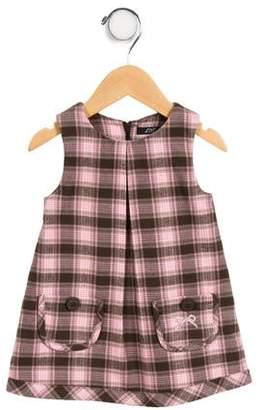Lili Gaufrette Girls' Sleeveless Plaid Dress