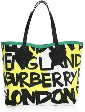 Burberry Giant Logo Graffiti Tote