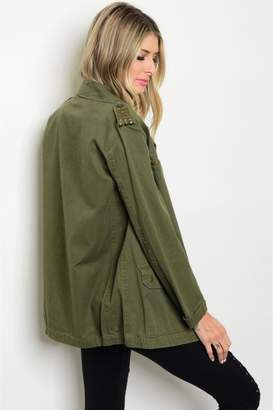 People Outfitter Studded Military Jacket