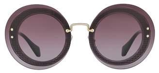 Miu Miu Reveal 64mm Round Sunglasses