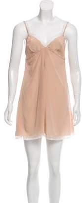 Miu Miu Lace-Trimmed Mini Dress