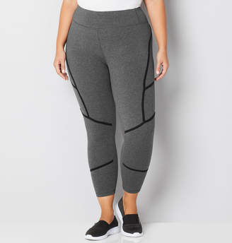 Avenue Grey 7/8 Legging with Lines