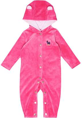 Juicy Couture Ultra Luxe Velour Hooded Onesie for Baby