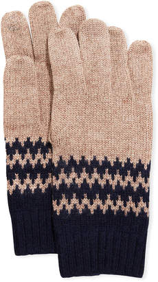 Portolano Men's Jersey Swirl Stitch Gloves